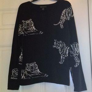 INC Macy's black and white fabulous sweater